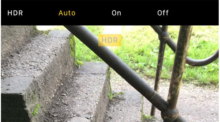 اعمال حالت خودکار HDR